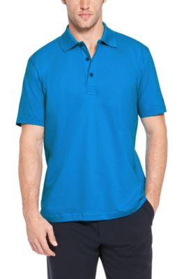 'Patrick US' | Regular Fit, Cotton Stretch Polo Shirt , Blue