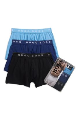 'Boxer 3Pack' |  Cotton Boxer Brief, 3-Pack, Open Blue