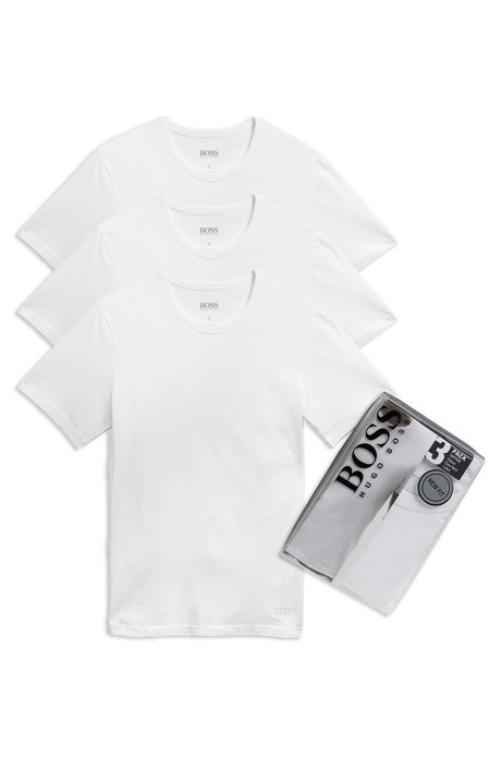 ca1a393df11 BOSS - 'Shirt' | Cotton Crewneck Undershirt, 3-Pack