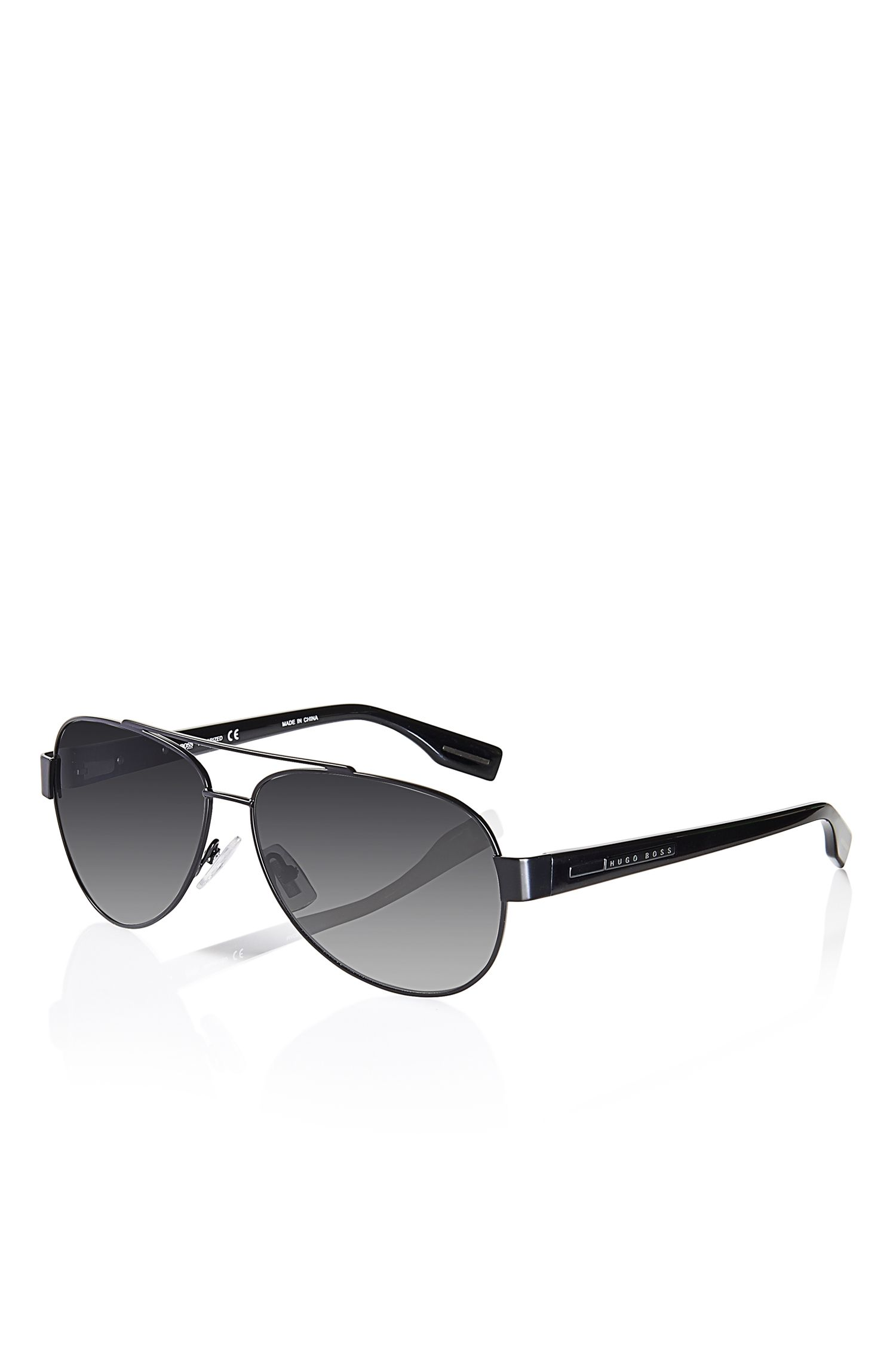 'Sunglasses' | Matte Black Metal Aviator Sunglasses