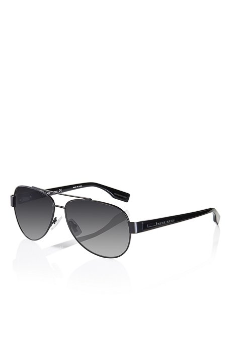 0bbb209b3 'Sunglasses' | Matte Black Metal Aviator Sunglasses, Assorted-Pre-Pack. '