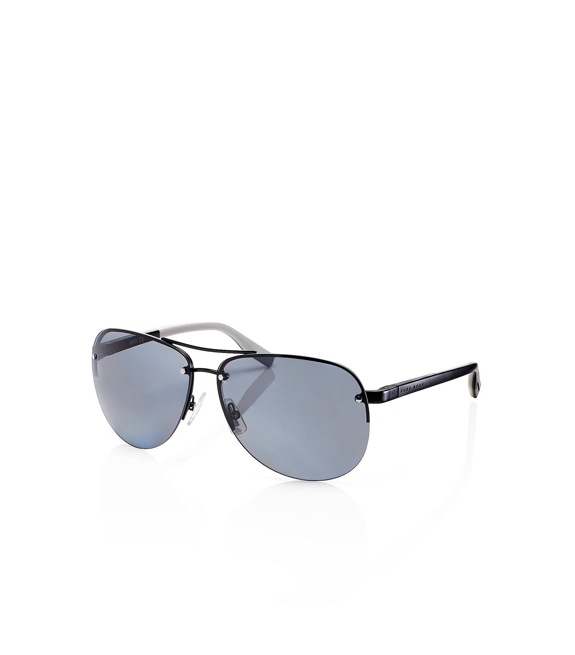 'Sunglasses'   Dark Ruthenium Rimless Aviator Sunglasses, Assorted-Pre-Pack