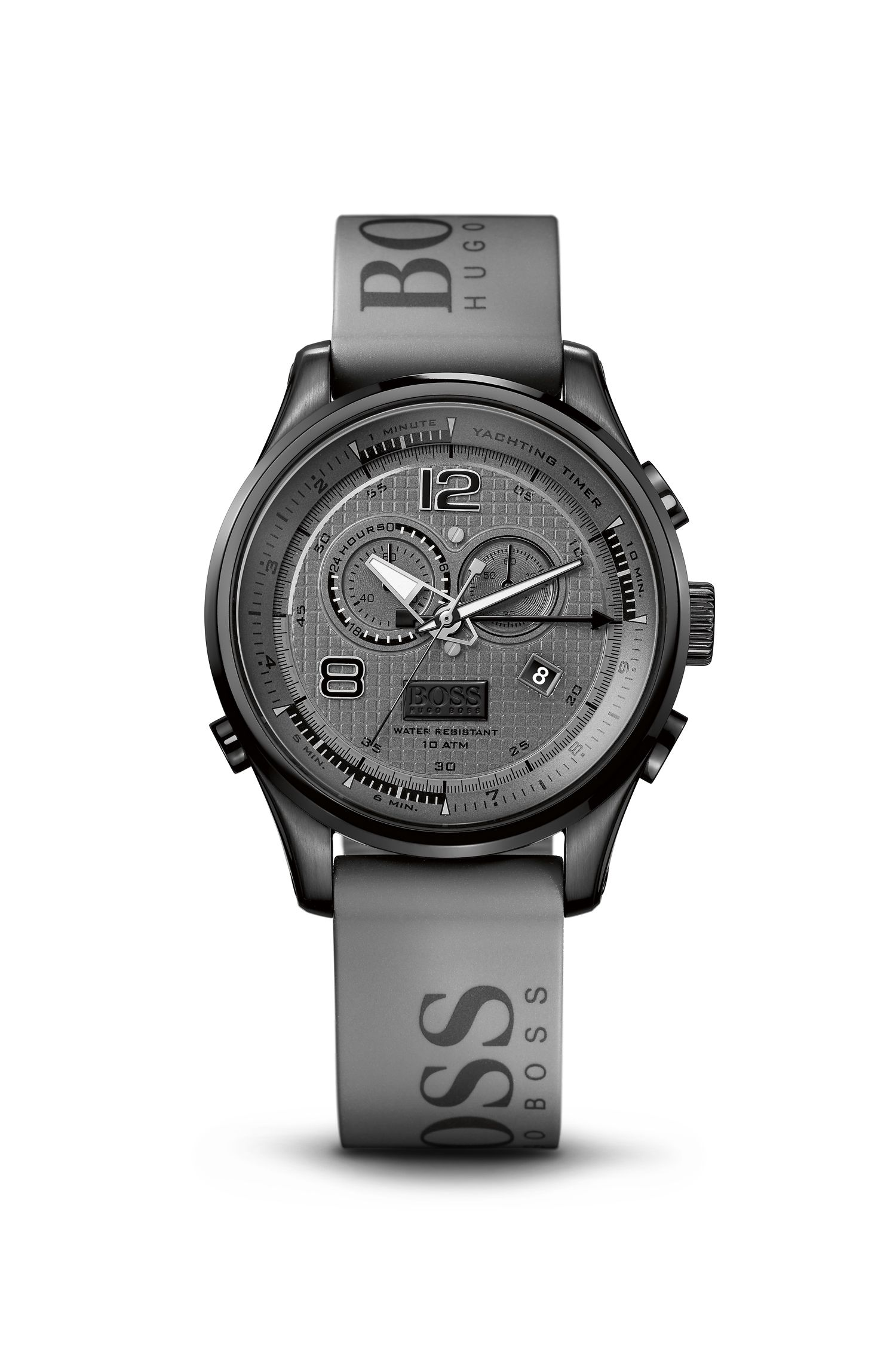 '1512800' | Chronograph Grey Silicon Logo Strap Watch