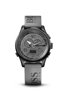 '1512800' | Chronograph Grey Silicon Logo Strap Watch, Assorted-Pre-Pack