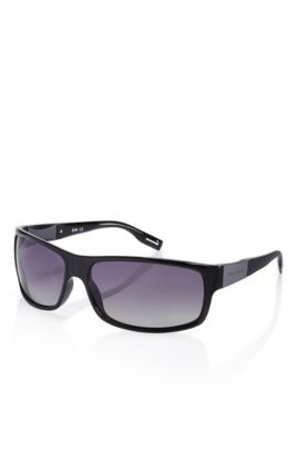 'Sunglasses' | Shiny Black Polarized Sunglasses, Assorted-Pre-Pack