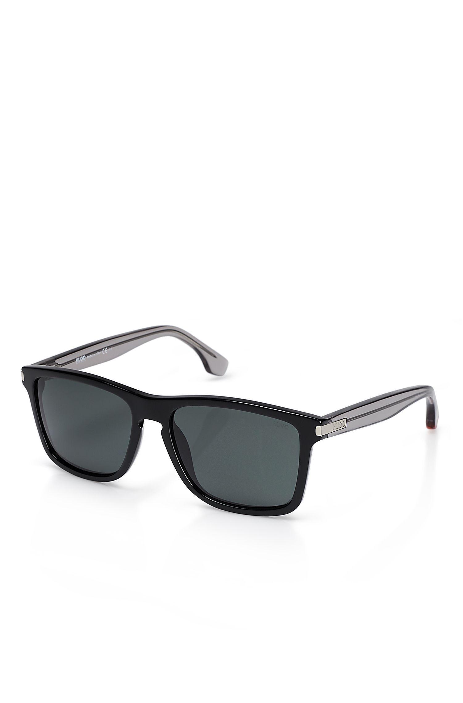 'Sunglasses'   Solid Black Frame Sunglasses