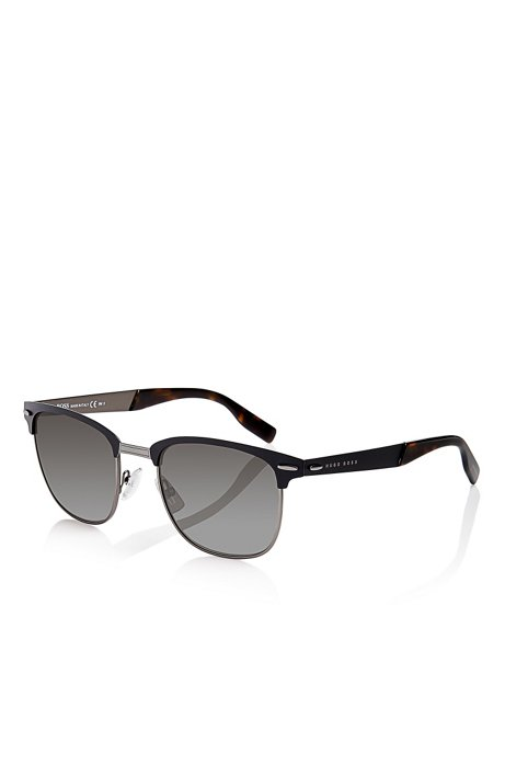 d0e2757cc 'Sunglasses' | Matte Black Semi-Rimless Sunglasses, Assorted-Pre-Pack. '