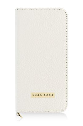 'Gracious IP5' | Leather iPhone 5 Booklet Case, White