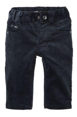 'J04124' | Toddler Stretch Cotton Corduroy Chinos, Dark Blue