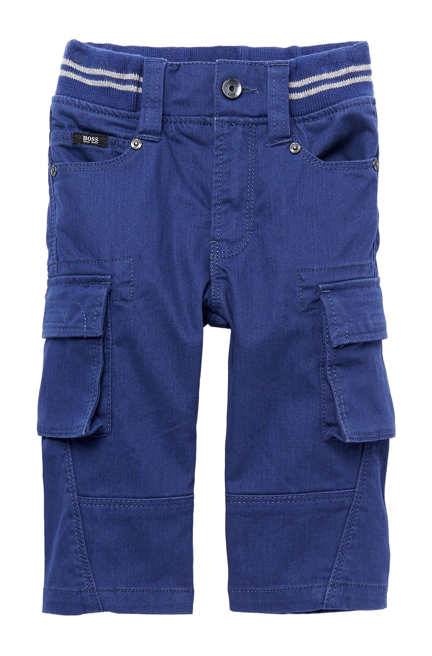 'J04128' | Toddler Stretch Cotton Cargo Chinos