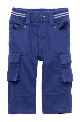 'J04128' | Toddler Stretch Cotton Cargo Chinos, Dark Blue