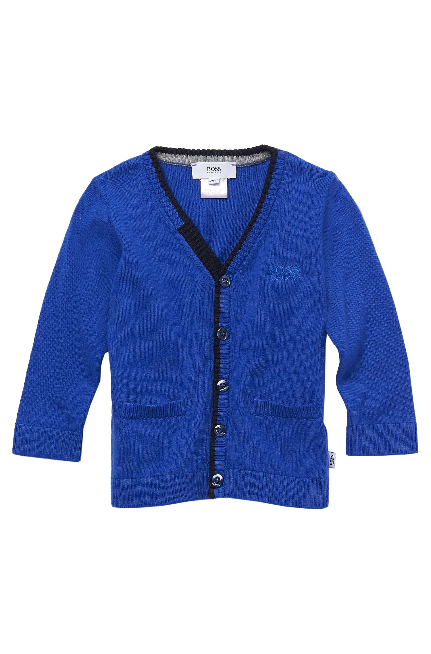 'J05239' | Toddler Cotton-Wool Knit Cardigan