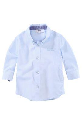 'J05241' | Toddler Cotton Button Down Shirt, Light Blue