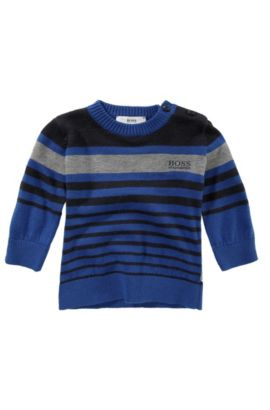 'J05246' | Toddler Cotton-Wool Blend Crewneck Sweater, Blue