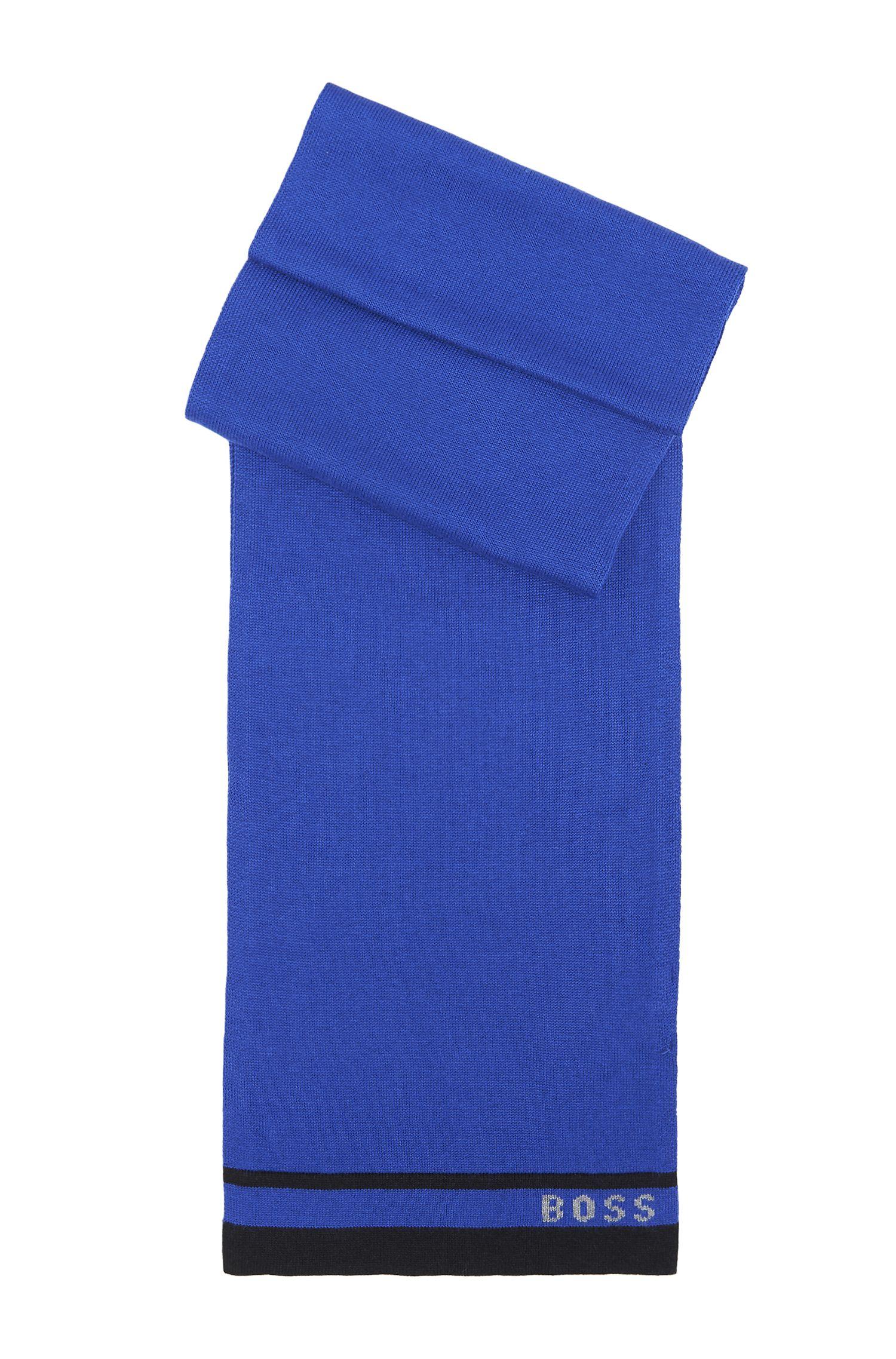 'J21109' | Knit Cotton-Wool Blend Scarf