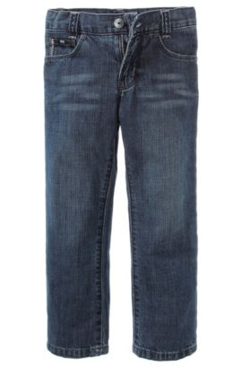 'J24244' | Boys Cotton Jeans, Patterned
