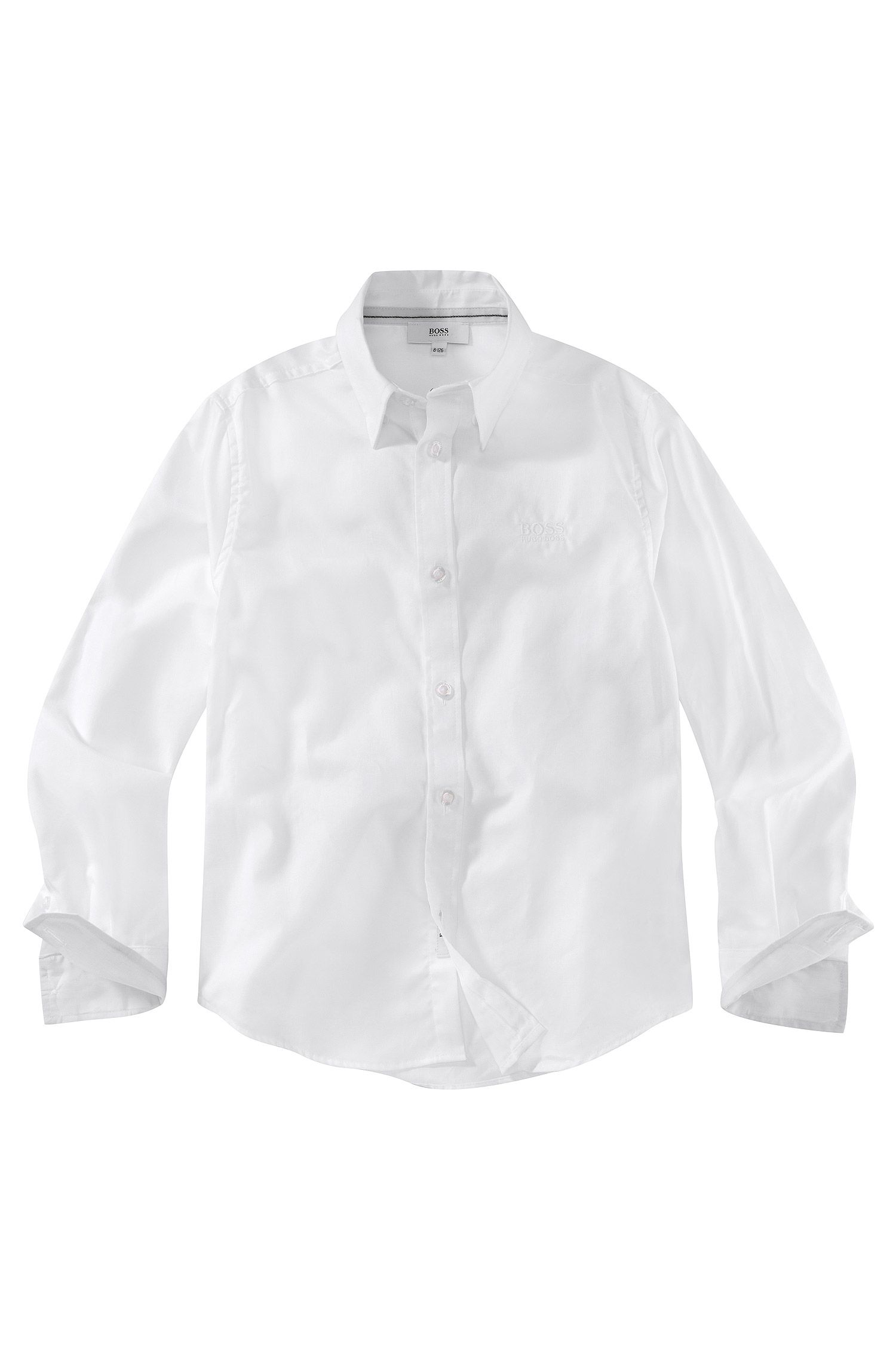 'J25547' | Boys Cotton Button Down Dress Shirt