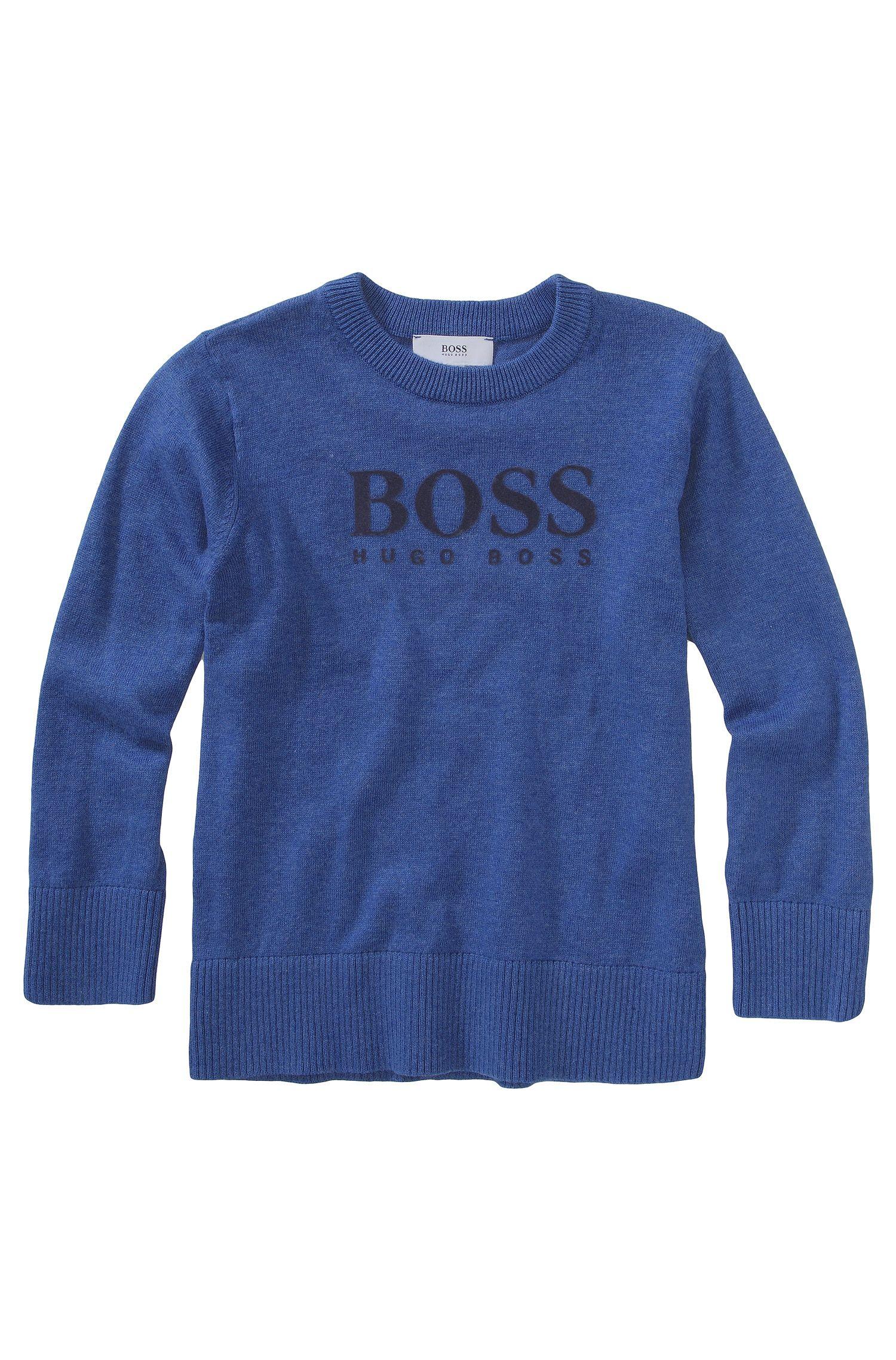 'J25550' | Boys Cotton Wool Blend Crewneck Sweater