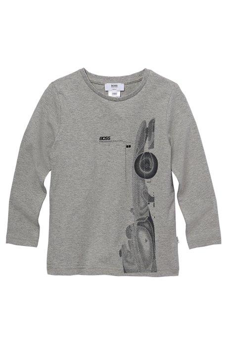 3caa3c2e7 BOSS - 'J25588' | Boys Long-Sleeved Stretch Cotton Crewneck Graphic ...