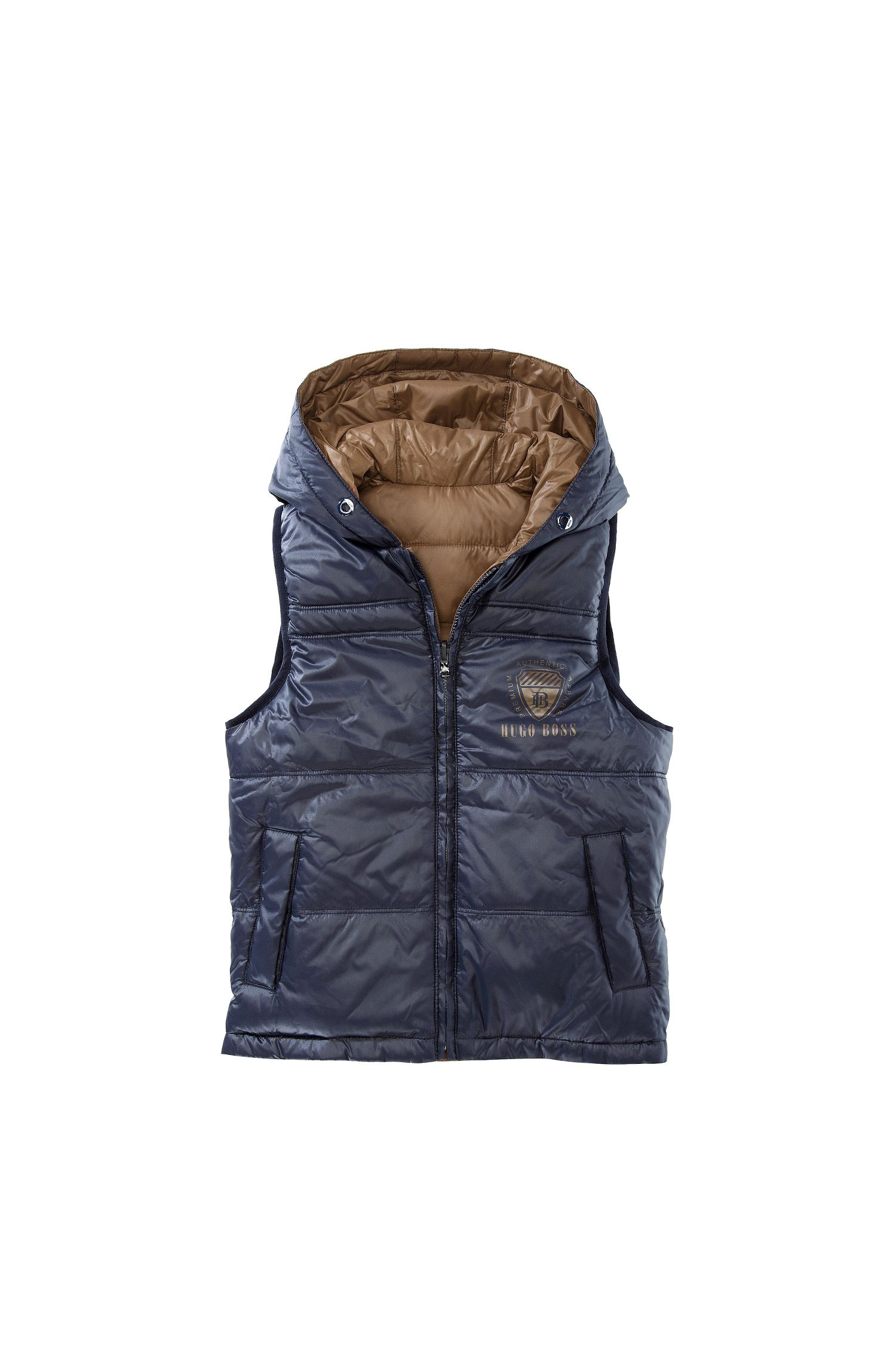 'J26168' | Boys Nylon Reversible Quilted Down Vest