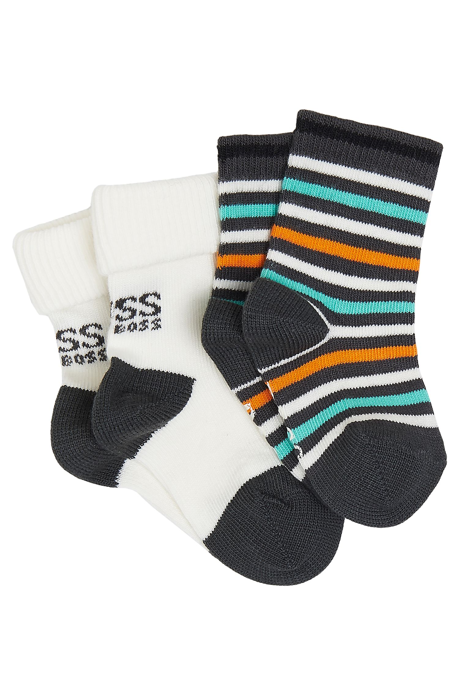 'J90062' | Two Pack Toddler Stretch Cotton Blend Socks