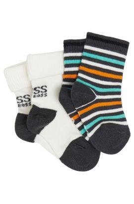 'J90062' | Two Pack Toddler Stretch Cotton Blend Socks, Black
