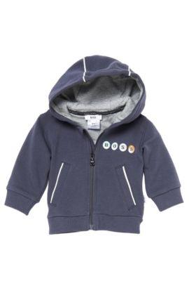 'J95109' | Infant Hooded Stretch Fleece Zip Up Hoodie, Black