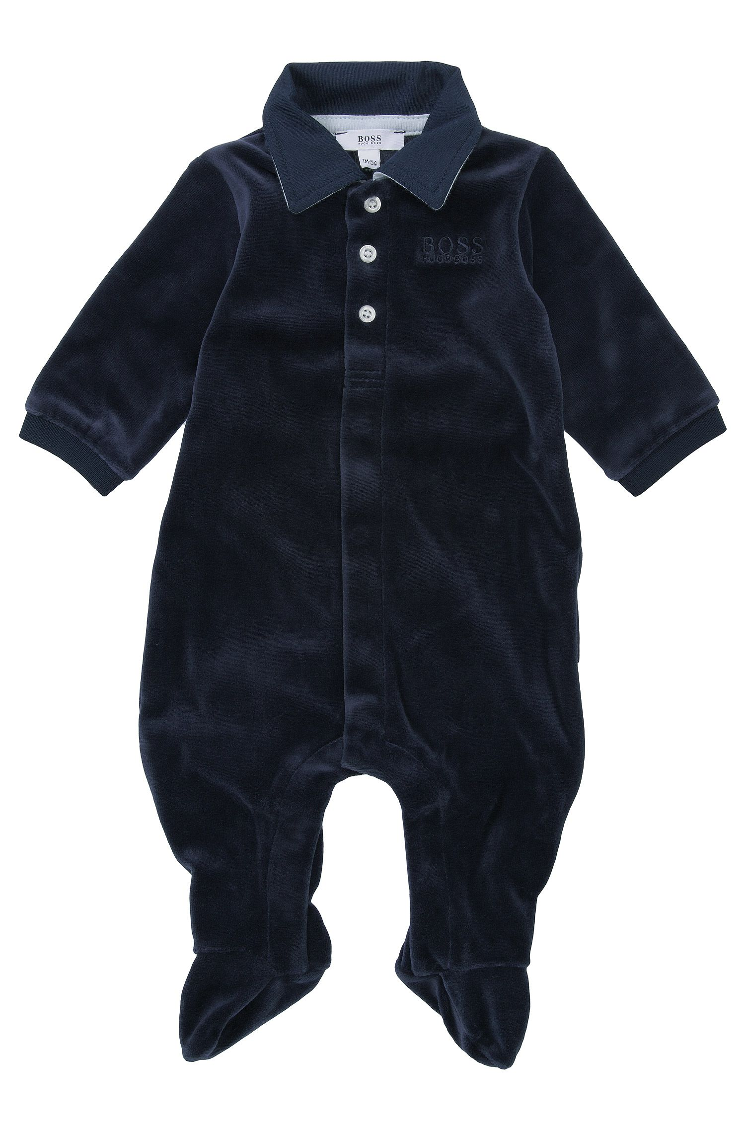 'J97061' | Infant Cotton Blend Polo Onesie