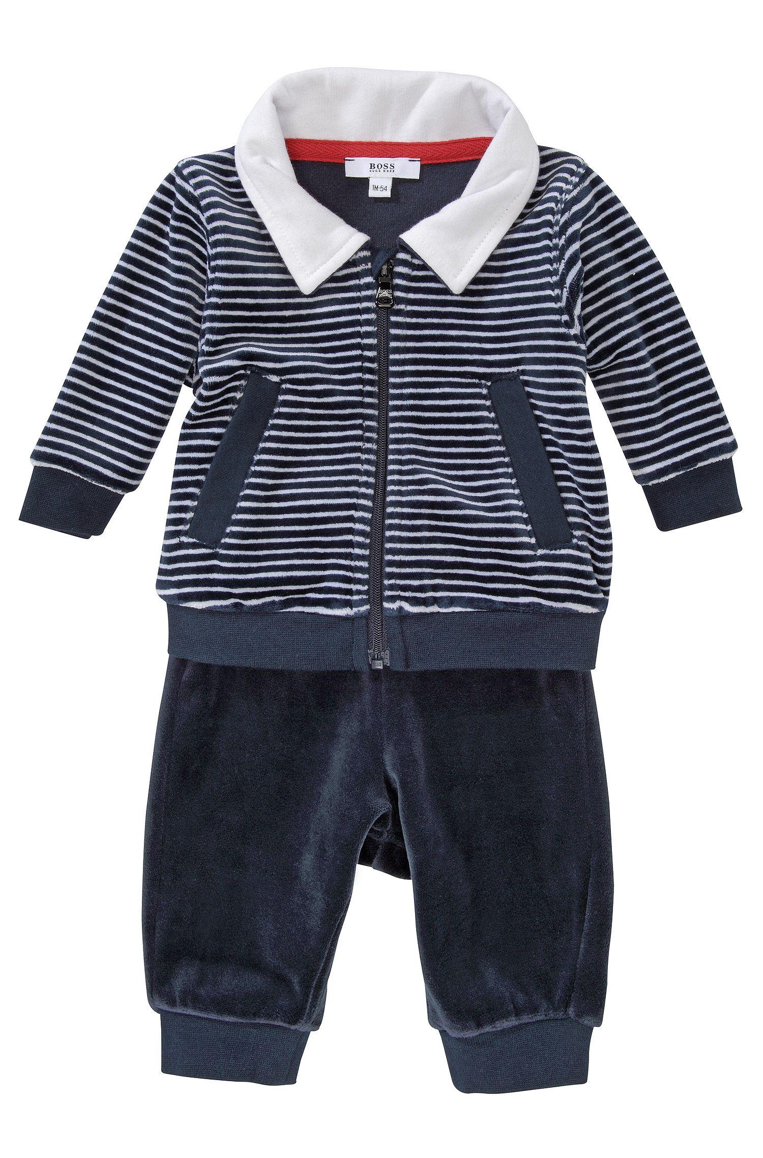 'J98082' | Infant Terry Velvet Activewear Set