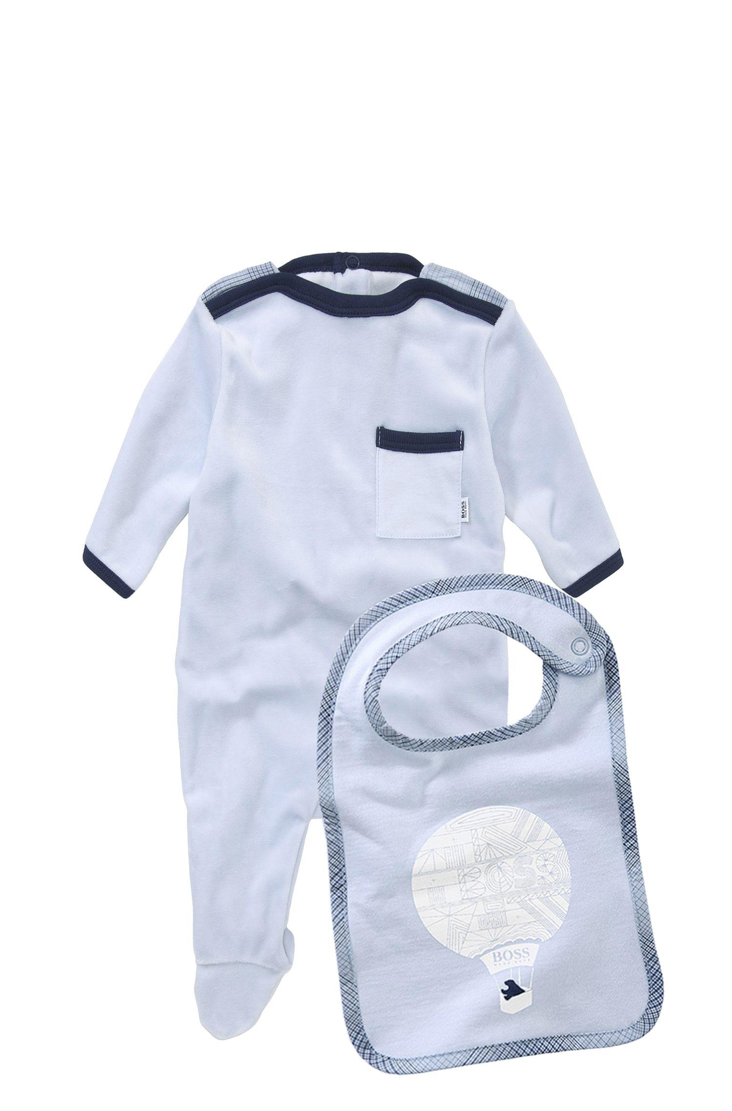 'J98086' | Infant Cotton Blend Onesie and Bib Set