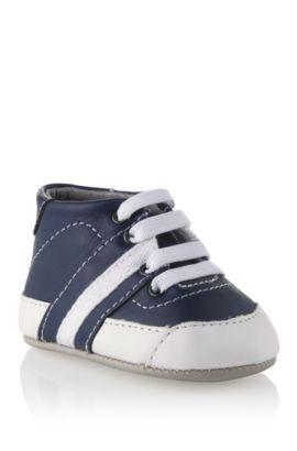 'J99026' | Leather Sneaker, Dark Blue