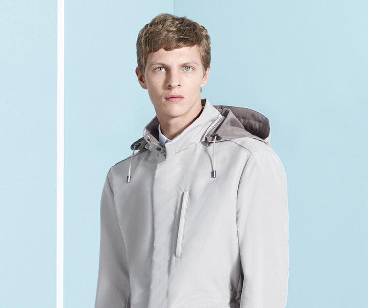 Beige outerwear by BOSS