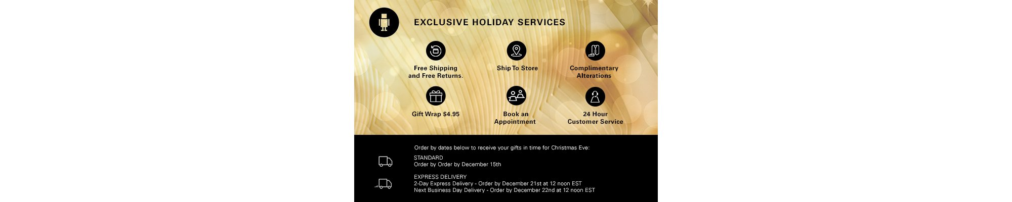 Holiday Services by HUGO BOSS