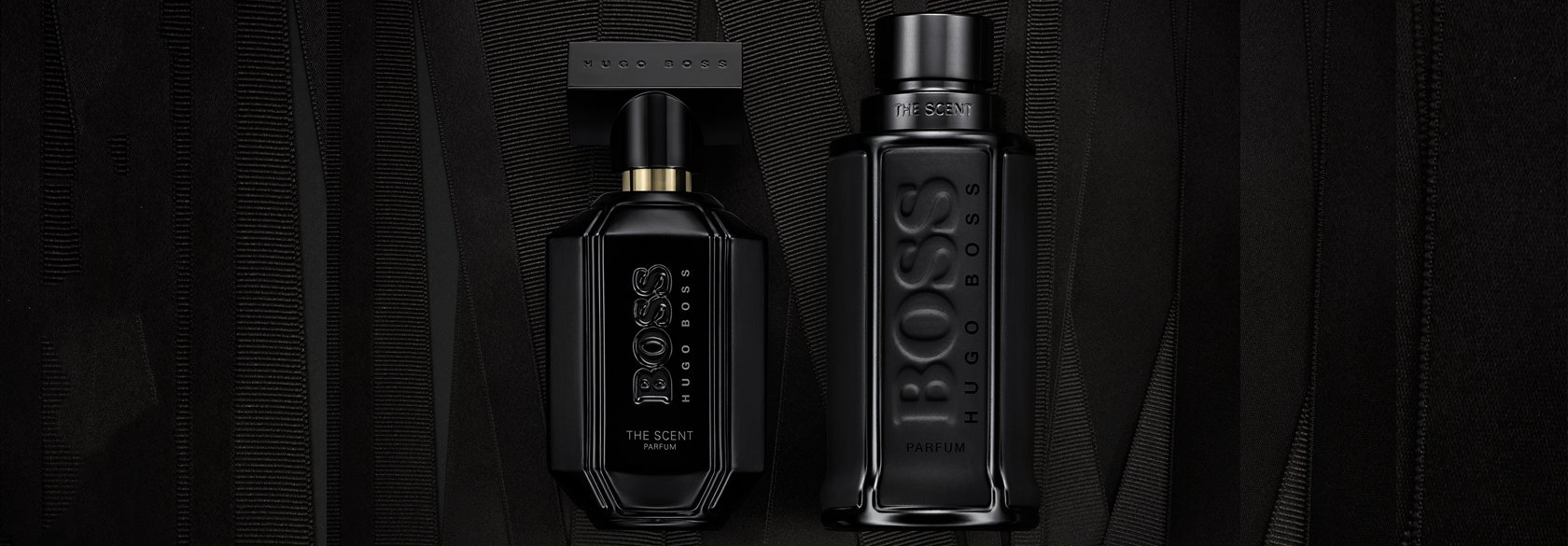 f94ed43d89b Black Flacon of BOSS The Scent Black Edition for him and for her ...