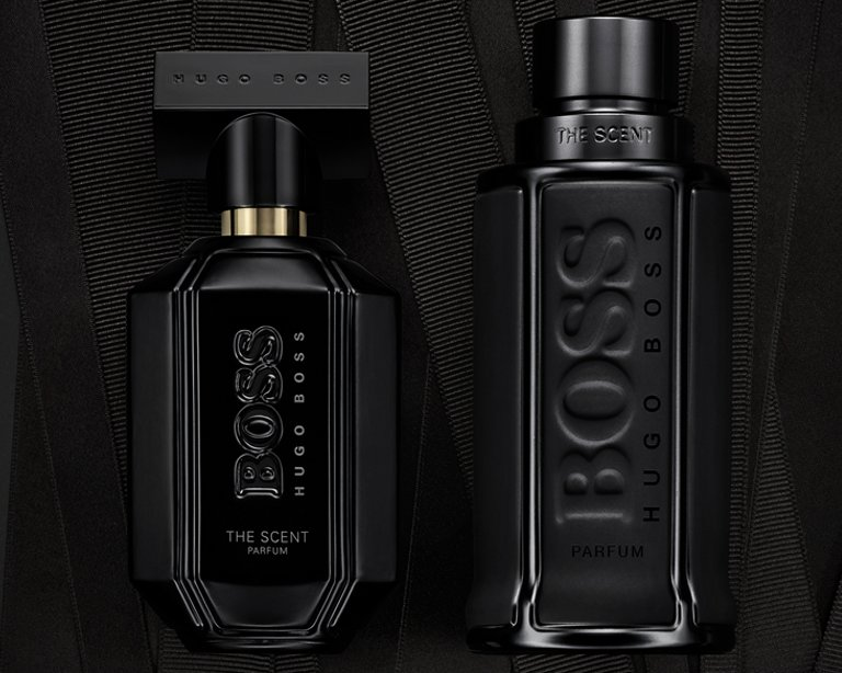 1ad8bfc60cc ... Black Flacon of BOSS The Scent Black Edition for him and for her