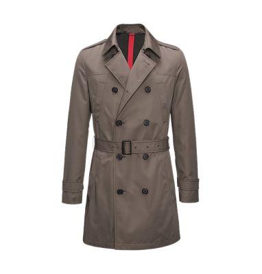 Slim-fit trench coat