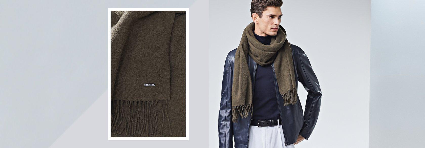Comment porter l écharpe BOSS Hommes – Classiques   élégants fa9b3f201e3
