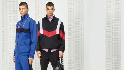 Male model wearing athleisure-inspired picks by HUGO