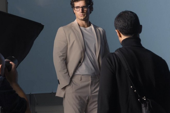 3c2d3abd5b Henry Cavill is behind the scenes for BOSS Eyewear campaign ...