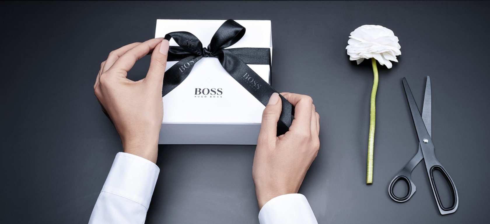 Unwrapping A Welcome Gift By Hugo Boss