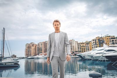 Nico Rosberg wearing BOSS