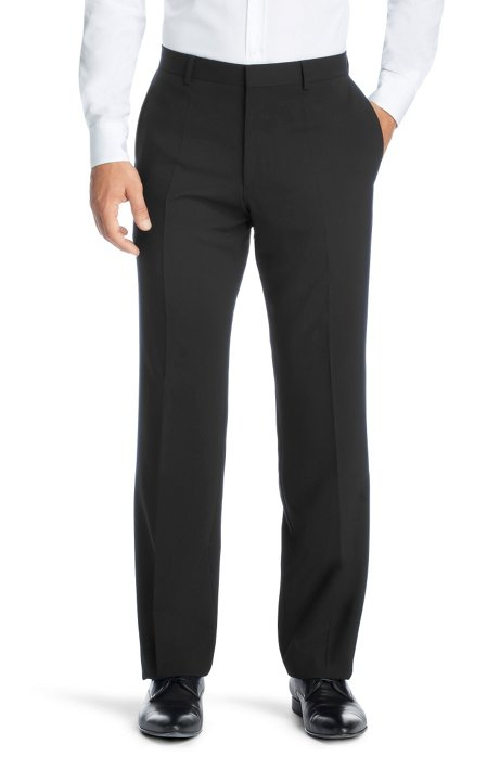 cdd7b0457 HUGO - Regular fit business trousers 'Hago'