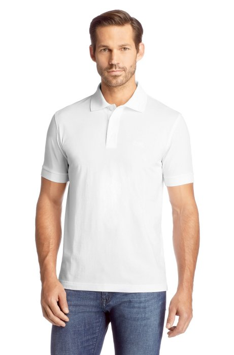 Comfort fit polo shirt 'Ferrara Modern Essential', White