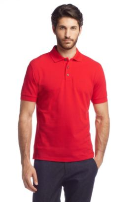 Polo Comfort Fit piqué, Ferrara Modern Essential, Rouge clair