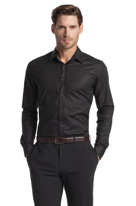 2ba2df503 HUGO - Slim fit blended cotton business shirt 'Elisha'