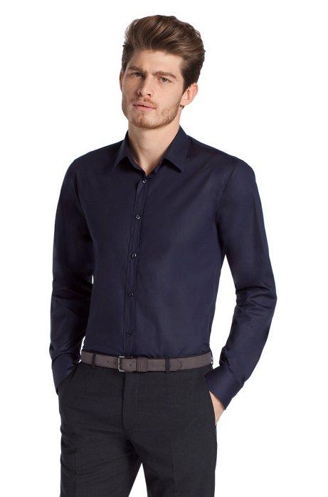 Slim fit blended cotton business shirt 'Elisha', Anthracite
