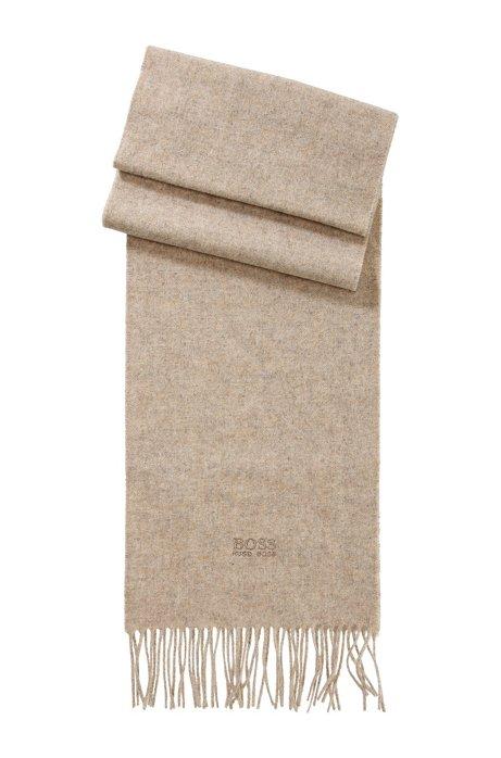 Cashmere scarf 'Scottas', Beige
