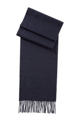 Sjaal ´Scottas` van kasjmier, Donkerblauw
