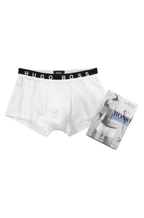 Boxer shorts with logo waistband 'Boxer BM', White