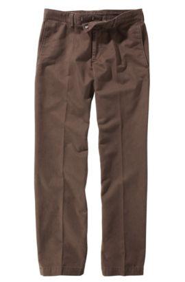 Pantalon détente en coton, Chuck-W, Marron